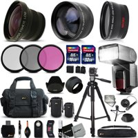 Ultimate 37 Piece Accessory Kit for Canon Mark II EOS 70D 60D 60Da EOS Rebel T6 T6i T6S T5i T5 T4i T3i T3 T2i SL1 EOS M EOS M2 EOS REBEL XS XSi XT XTi Kiss X50 kiss X70 Kiss X7i Kiss X6i Kis