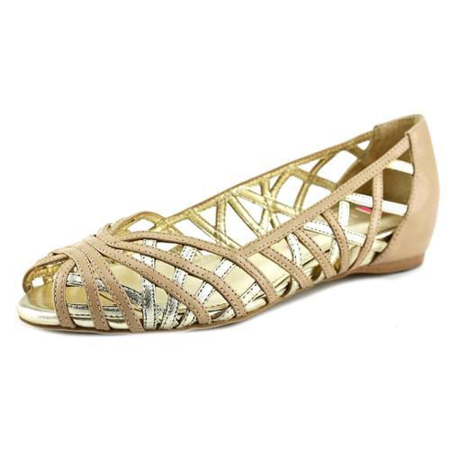 Elaine Turner Pippa Women US 8.5 Gray Peep Toe Flats