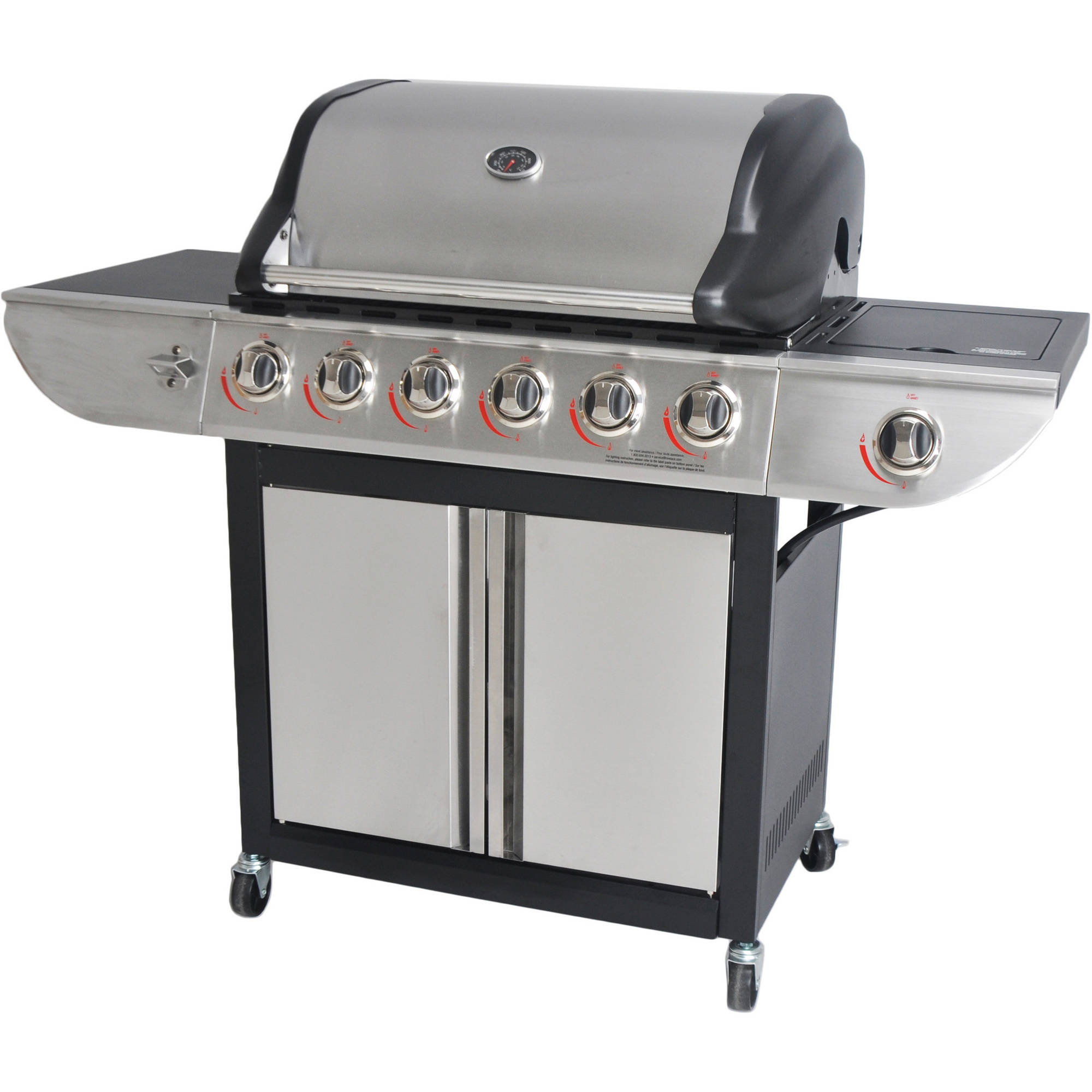 RevoAce 6-Burner LP Gas Grill with Side Burner, Stainless Steel by REVOACE INC LIMITED