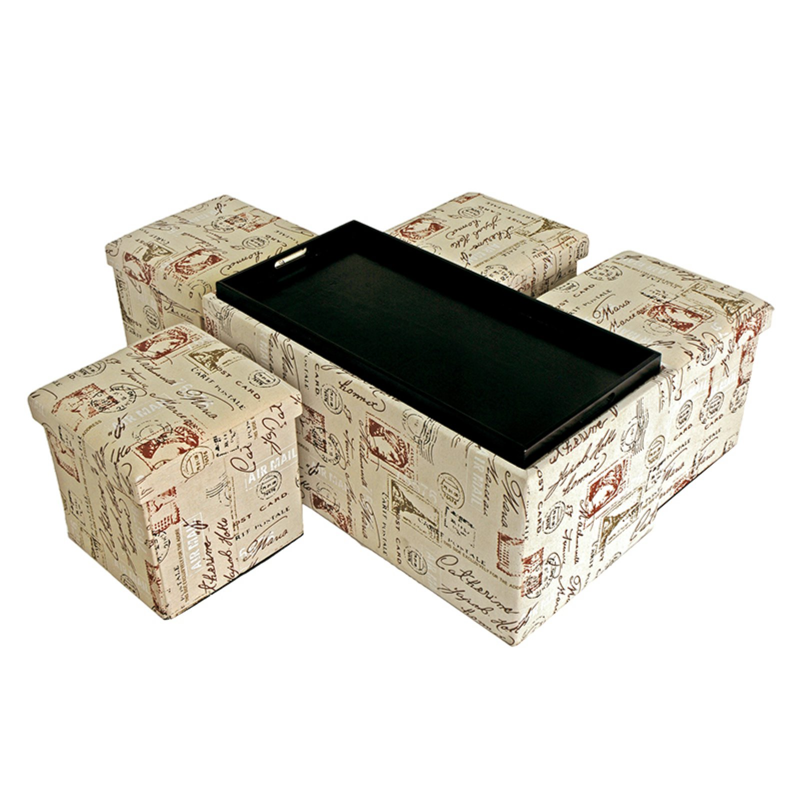 Creative Living 5 Piece Storage Bench and Ottoman Set