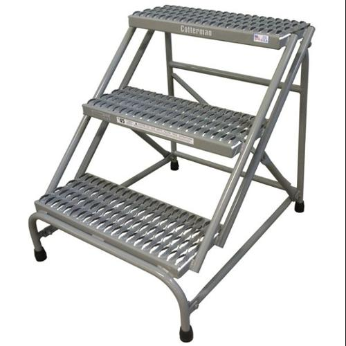 COTTERMAN 1403N2526A3E10B1C1P1 Step Stand, 30 In H, 500 lb., Steel