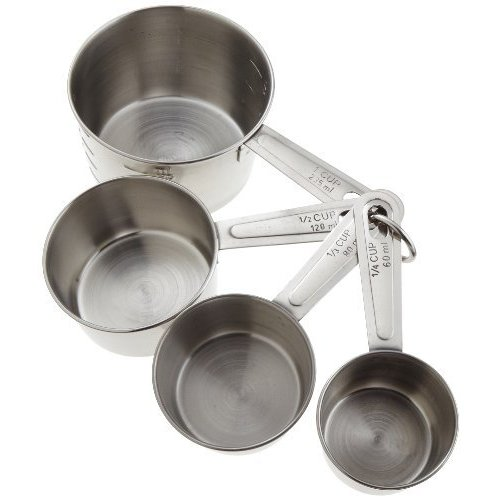 goodcook Stainless Steel Measuring Cup Set, 4 Piece