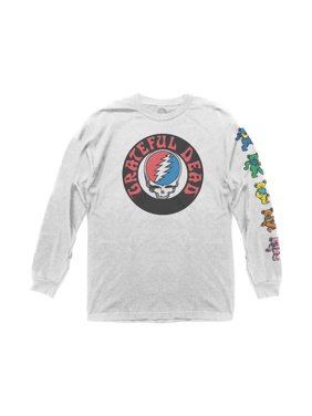 cb874e9e566553 Product Image Grateful Dead Adult Unisex Logo with Bears Sleeve Hit Long  Sleeve Crew T-Shirt White