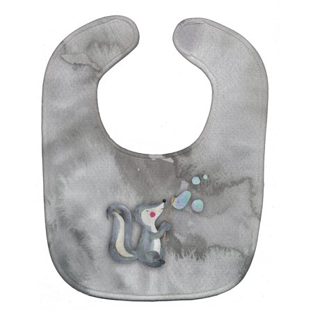 Skunk and Bubbles Watercolor Baby Bib