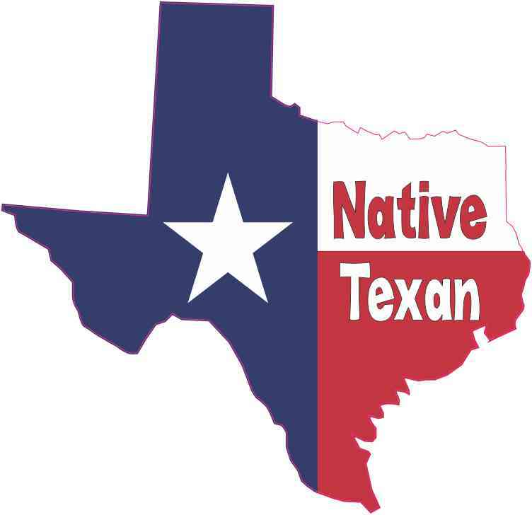 Country Flag Decal Bumper Sticker (5in x 5in Native Texan Texas Flag Decal Bumper Sticker Truck Window)