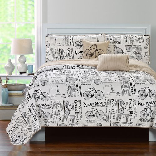 Luxury Home Tandem 5 Piece Quilt Set