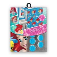 Disney Fabric Shower Curtain Set with 12 Matching Hooks