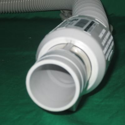 30' Crush Proof Central Vac Vacuum Hose Dual Switch Gas Pump Handel w/ Pigtail (Pressureless Gas Steamer)