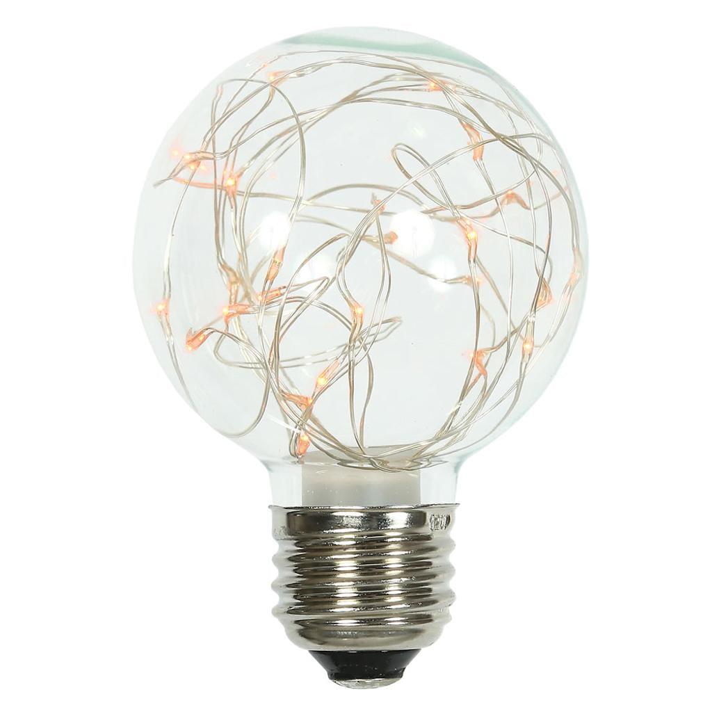 Vickerman 509609 - 25Lt Amber Twinkle G95 Fairy Lt Bulb E26 (XLEDG98) G95 Globe LED Light Bulb