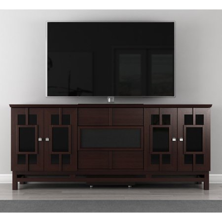 furnitech contemporary asian 70 inch tv stand. Black Bedroom Furniture Sets. Home Design Ideas