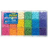 The Beadery Soft Rainbow bead box, 2300 matte pony beads