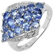 Malaika  Sterling Silver 1 7/8ct Tanzanite Ring