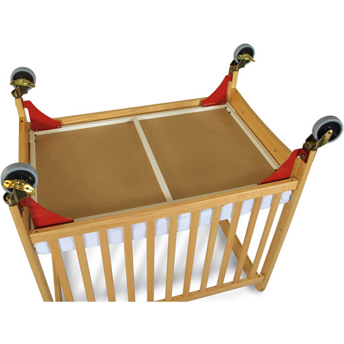 Foundations First Responder Evacuation Frame with Antique Brass Casters for Natural SafetyCraft, Serenity and Biltmore Compact Cribs