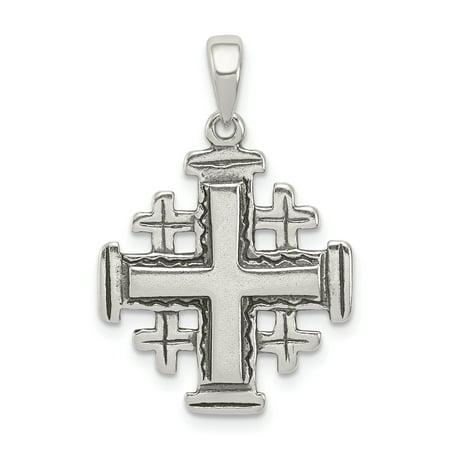 925 Sterling Silver Antiqued Jerusalem Crusader Pendant