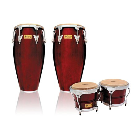 LP Performer Series 2-Piece Conga and Bongo Set with Chrome Hardware Dark Wood by