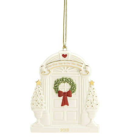 2018 Lenox Our First Year In Our New Home Porcelain Christmas Ornament 877243