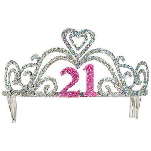 21st Birthday Glitter Tiara