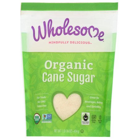 Wholesome! Organic Cane Sugar, Evaporated Cane Juice, 16 oz Organic Sugar Cones