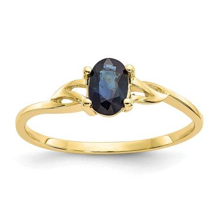Roy Rose Jewelry 10K Yellow Gold Genuine Sapphire Birthstone Ring - Size: 7