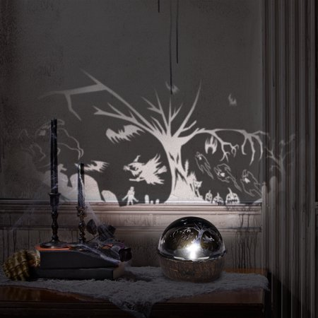 Halloween Rotating Shadow Light Flying Tree and Witches by Gemmy Industries - Halloween Shadow Projection