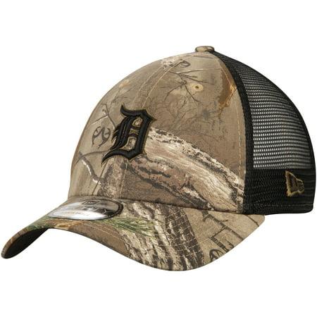 Detroit Tigers New Era Realtree Trucker 9FORTY Adjustable Snapback Hat - Camo/Black - OSFA