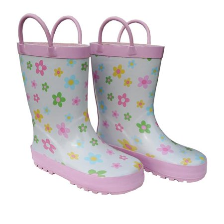 Childrens Pastel Posies Rain Boot - Size 2 (Childrens Size 28)