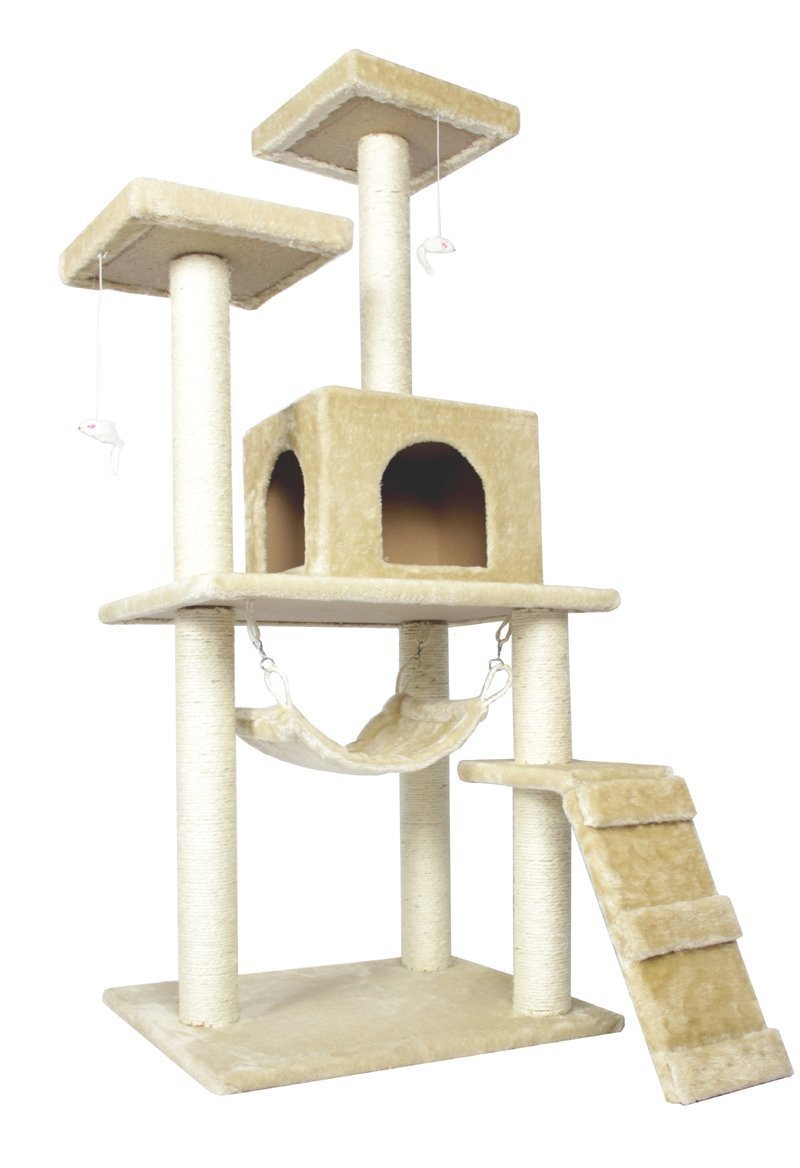 "57"" Cat Tree Condo Furniture Scratch Post Pet House by"