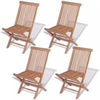 Outdoor Folding Chairs 4 pcs Solid Teak