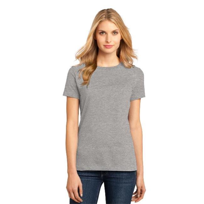 District Made® - Ladies Perfect Weight® Crew Tee. Dm104l Heathered Steel L - image 1 de 1