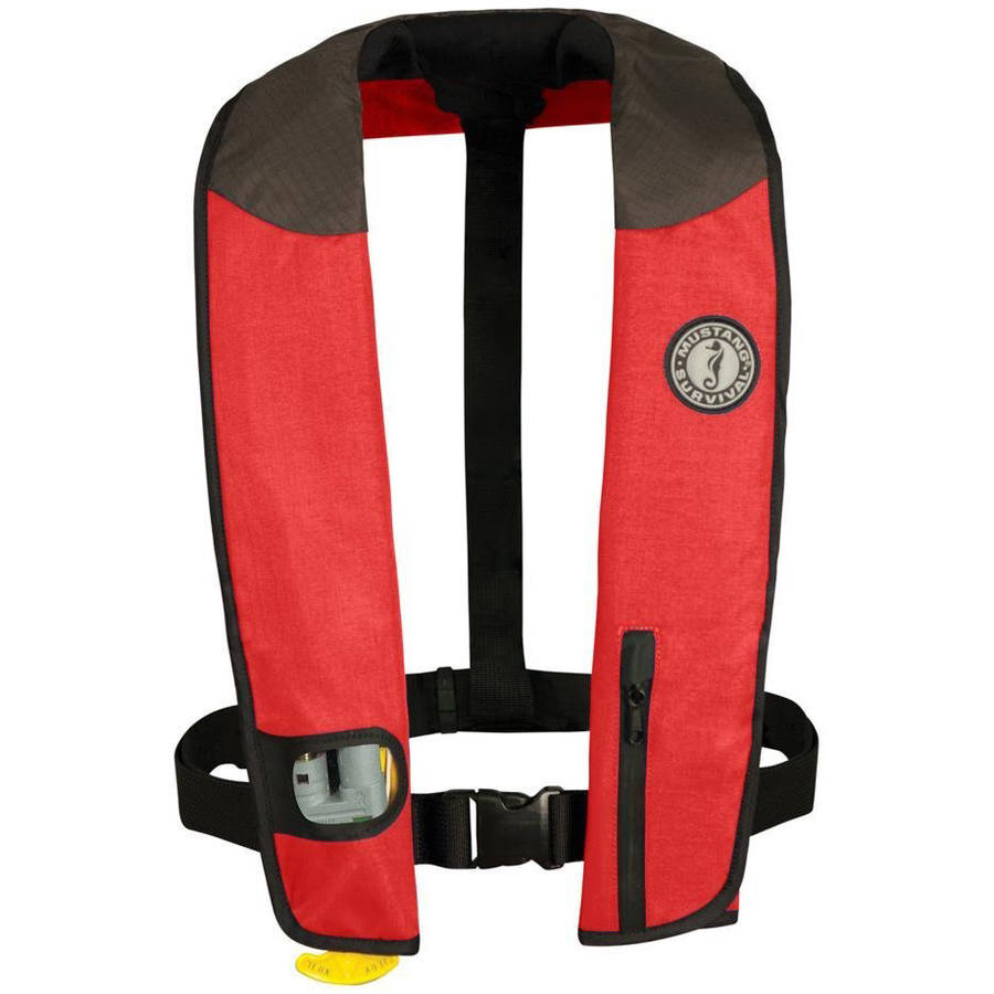 Mustang Survival Deluxe Inflatable PFD, Automatic with Sailing Harness