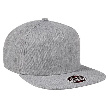 Otto Cap Heather Wool Blend Flat Visor Pro Style Caps - Hat / Cap for Summer, Sports, Picnic, Casual wear and Reunion etc