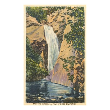 Tahquitz Waterfall, Palm Springs Print Wall - Palm Waterfall