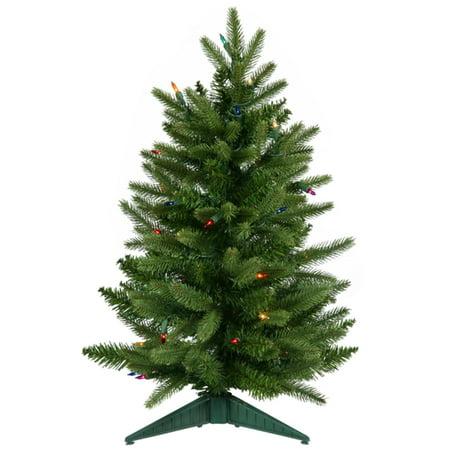2' Pre-Lit Frasier Fir Artificial Christmas Tree - Multi Lights - 2' Pre-Lit Frasier Fir Artificial Christmas Tree - Multi Lights