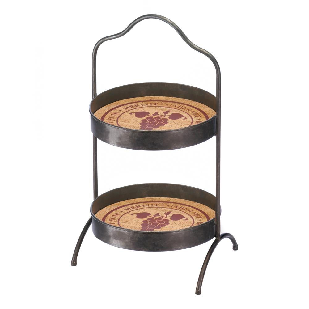Accent Plus Vineyard 2-Tier Standing Tray