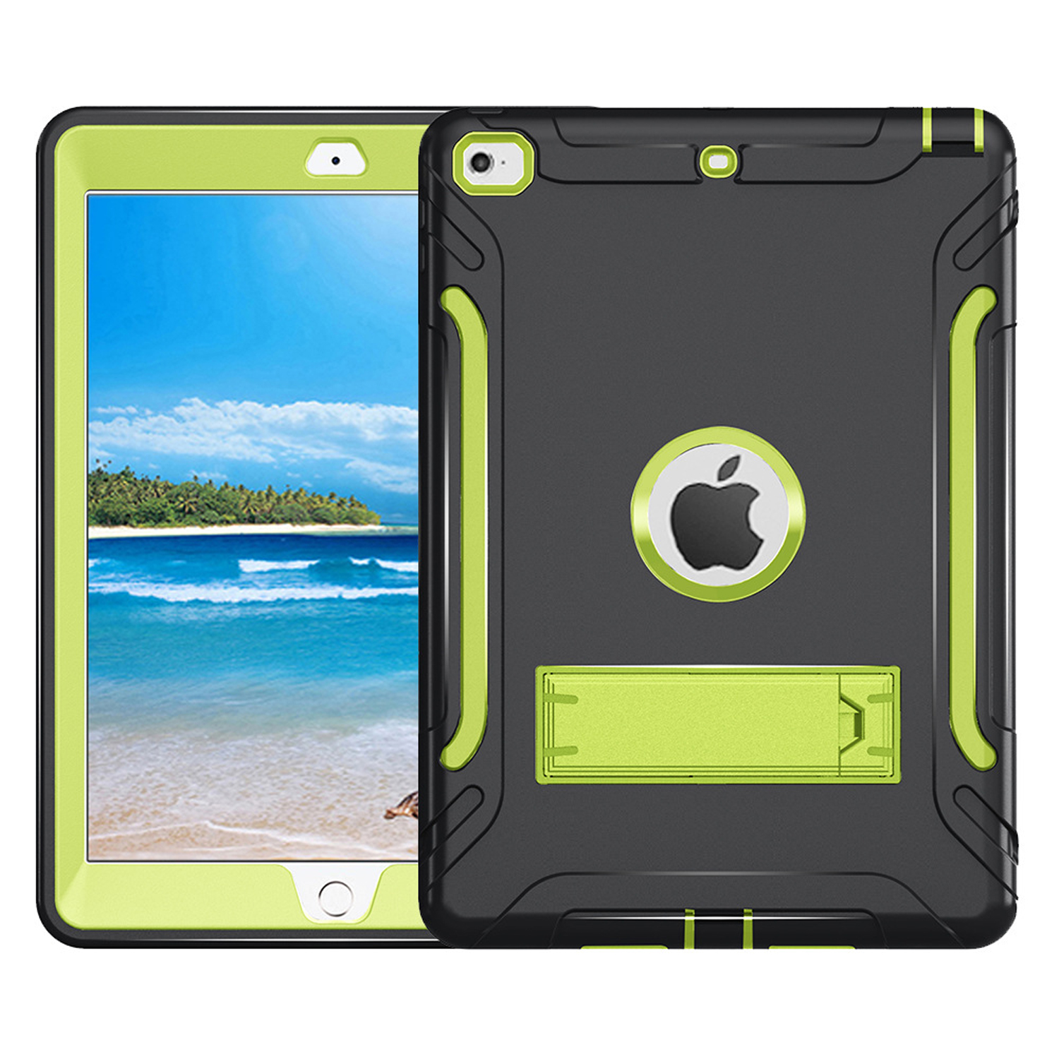 Dteck New iPad 9.72017 / 2018 Case, Heavy Duty Kickstand Shockproof Protective Case Cover For iPad Model A1822 A1823