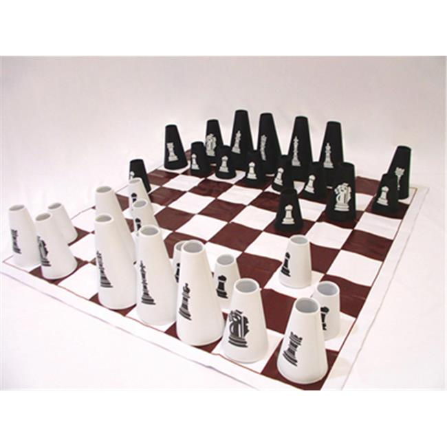 American Educational YTC-237-4 Chess-Checker Set with Cones