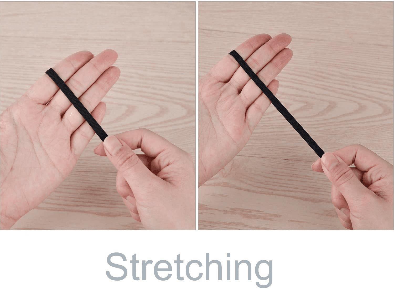 Cuff 100 Yards Braided Elastic Band Elastic Cord Rope Heavy Stretch Knit for Knit Sewing Crafts DIY Bedspread