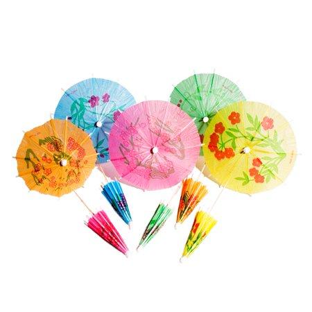 Cocktail Parasol Picks (Jumbo Cocktail Parasol Drink Umbrella Picks - Pack of)