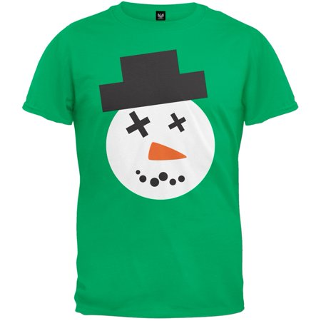Snowman Face Ugly Christmas Sweater Adult T-Shirt
