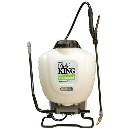Field King Professional 190328 No Leak Pesticide Sprayer Pump Backpack, White