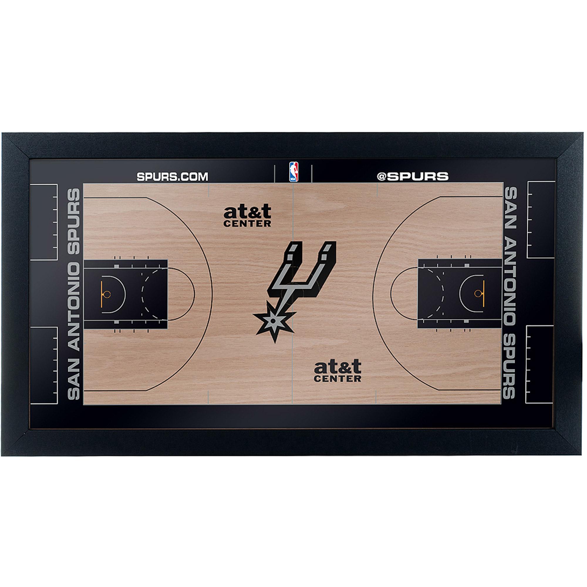 San Antonio Spurs Official NBA Court Framed Plaque