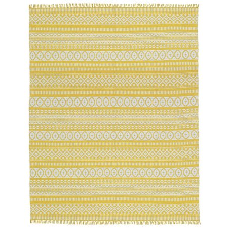 Bungalow Rose Bruges Hand-Loomed Yellow Area Rug (Bungalow Style Rugs)
