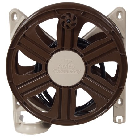 "AMES 2388340 19"" Polypropylene Wall Mount Hose Reel"