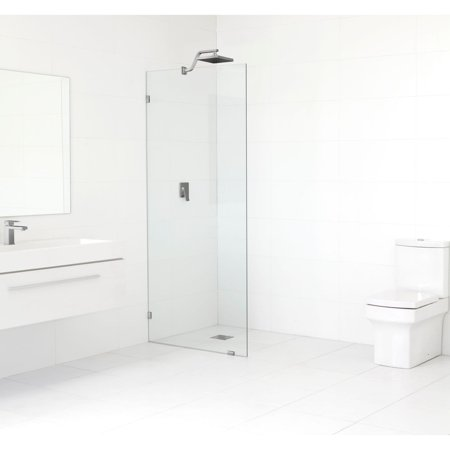 Glass Warehouse  78-inch x 32.5-inch Frameless Shower Single Fixed (Glass Fixed Panel)