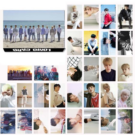 Fancyleo KPOP Seventeen Members Photo Postcard Lomo Cards Set Gift for Fans