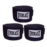"108"" Everlast Boxing Handwraps, Black, 3 Pairs"