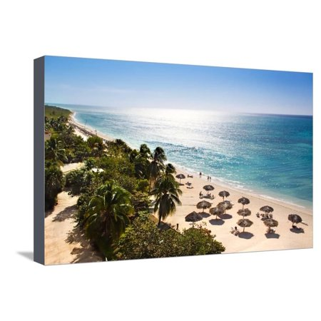 Sunrise Beautiful Tropical Beach at the Caribbean Island with White Sands and Stunning Turquoise Wa Stretched Canvas Print Wall Art By Aleksandar (Homes For Sale In City Beach Wa)