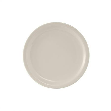 Nevada 7 1/4 inch Plate Narrow Rim in Eggshell American White/Case of -