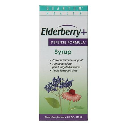 Quantum Elderberry  Defense Formula Immune Support Syrup  4 Fl Oz