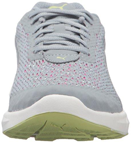 PUMA Women's Ignite Ultimate Layered Wn's Running Shoe, Quarry/Pink Glow, 8.5 M US